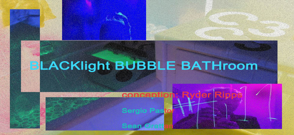 Room C3 (Blacklight Bubble Bathroom) - Conception: Ryder Ripps, with Sergio Pastor and Sean Grattan