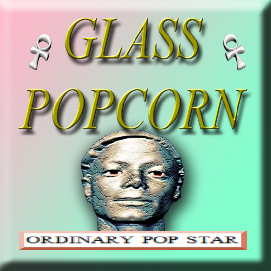 Cover art for Glass Popcorn&#039;s &quot;Ordinary Pop Star&quot; mix for DIS Magazine