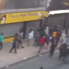 DIS Magazine: Manchester Riots- overhead view of looting on Oldham Street