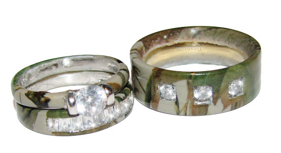 camo wedding ring set - Camo Wedding Ring Sets