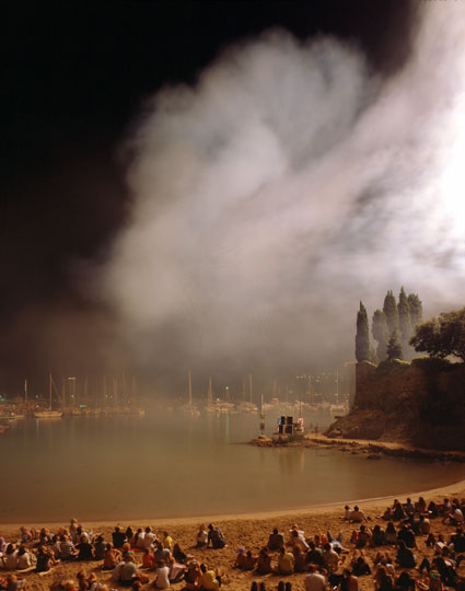 Feu d'artifice pyromélodique (blanc), 16 août 1994