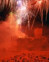 Feu d'artifice pyromélodique (rouge), 16 août 1994