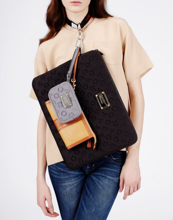 Shirt by Mary Ping, laptop and iPhone cases by Marc by Marc Jacobs worn with wallet by Coach.