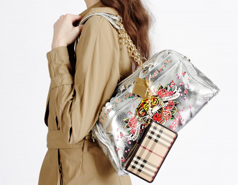 Trenchcoat by Slow and Steady Wins the Race worn with Ed Hardy bag and  Burberry wallet cadd56c11743b