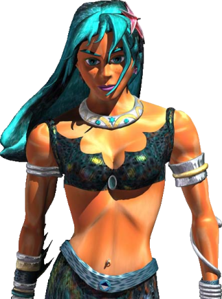 CGI glossy warrior girl