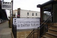 Immigrant Movement International headquarters in Corona, Queens, NY.  Photograph Courtesy Creative Time.