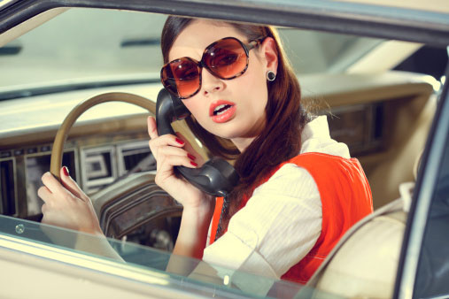 """70s girl in the old American car,"" by Gregor Hočevar"