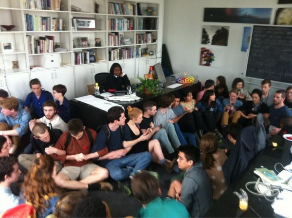 Students occupy the President's office