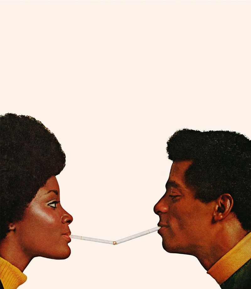 Hank Willis Thomas, Pucker Up!, series: Unbranded, LightJet print, 1972/2008.