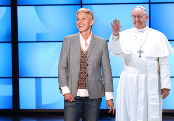 In a yet-to-be-aired episode of Ellen, the Pope discusses  his newfound stance on homosexuality and transgender identity.