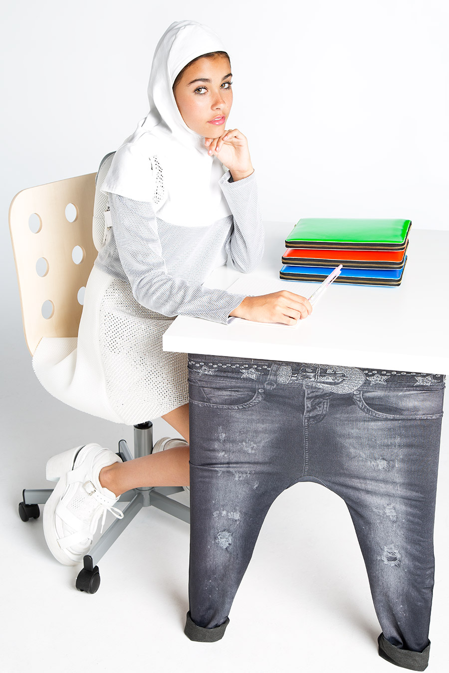 Faded Glory for IKEA Linnmon/Jegging Work Desk (Back2School Must Have), 2013 full look by Rym Beydoun