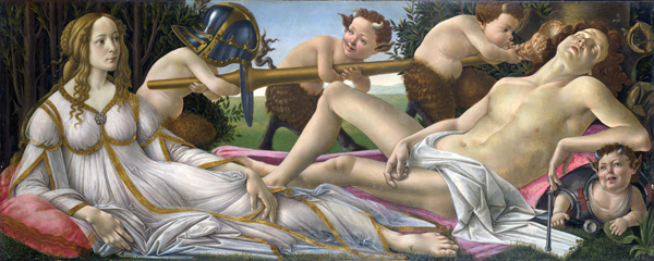 Mars and Venus by Botticelli, c. 1483