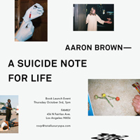 DIS Magazine: AARON BROWN BOOK RELEASE