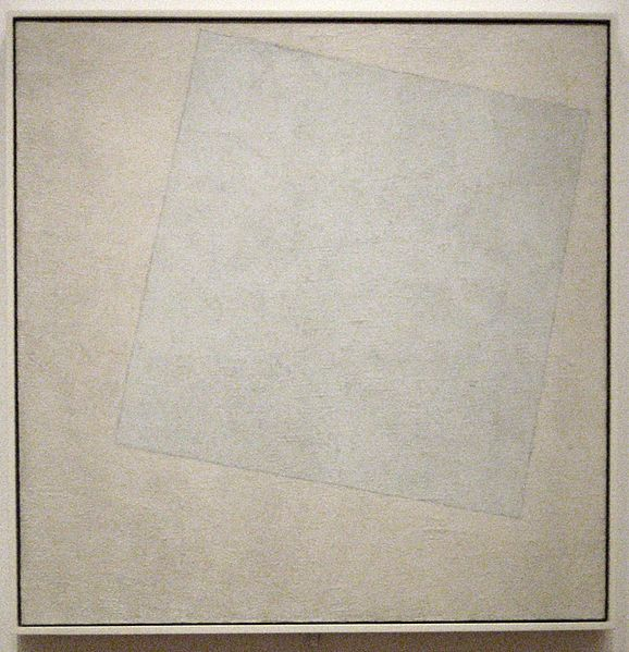 Kazimir Malevich Suprematist Composition - White on White 1918
