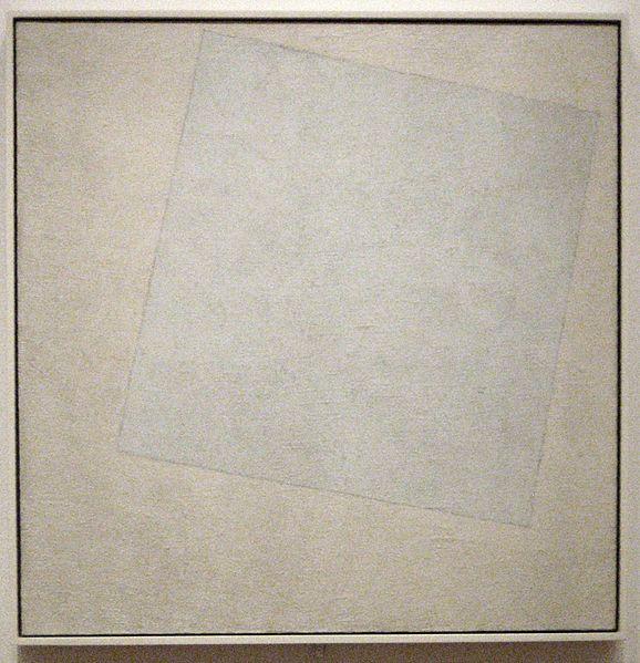 Kazimir Malevich Suprematist Composition - White on White 1918