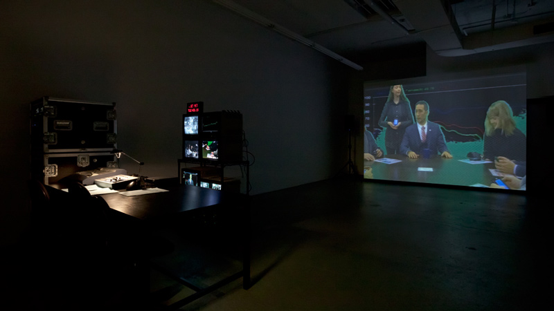 Installation view of Liz Magic Laser: Absolute Event. November 2013