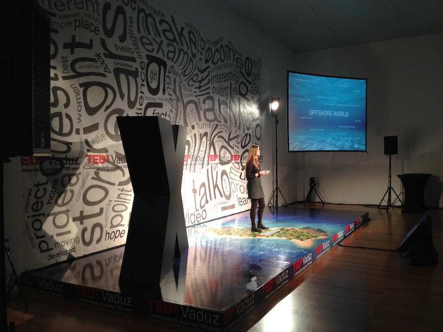 Femke Herregraven speaks at TEDxVaduz, Kunstmuseum Liechtenstein, Dec 2013