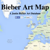 Introducing Bieber Art Map!