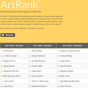 DIS Magazine: The Ranked Artists of ArtRank