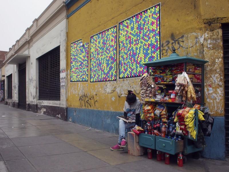 Silkscreen prints in Lima 10/26/13. Photo: Eduardo Villanes.