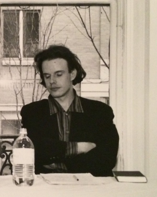 1991, Hans Ulrich Obrist dreaming at Swiss Institute during his first lecture in New York.