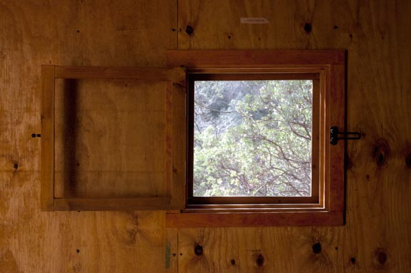 Unabomber cabin window