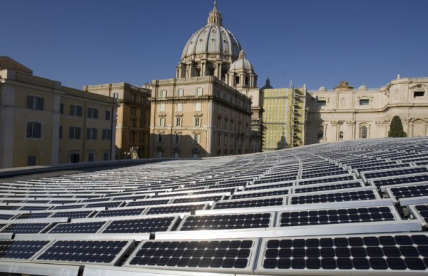 The Vatican installs solar panels in an effort to be more Green.
