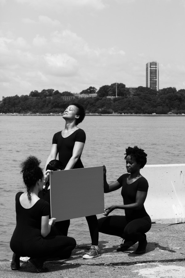 Xaviera Simmons (b. 1974, United States) Number 18/Number 19 Xaviera Simmons staged a photo shoot featuring five dancers recreating scenes from historical photographs found by the artist when she was doing research into the history of the piers as sites for artistic and sexual experimentations.