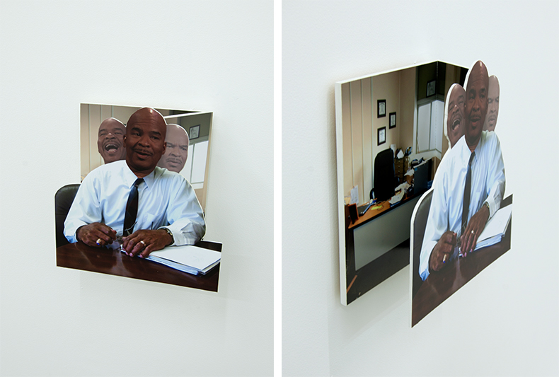 Nick DeMarco, David Allen Grier as Glenn Ross, 2014, digital print, plywood, 13 x 14 1⁄2 x 5 3⁄4 inches