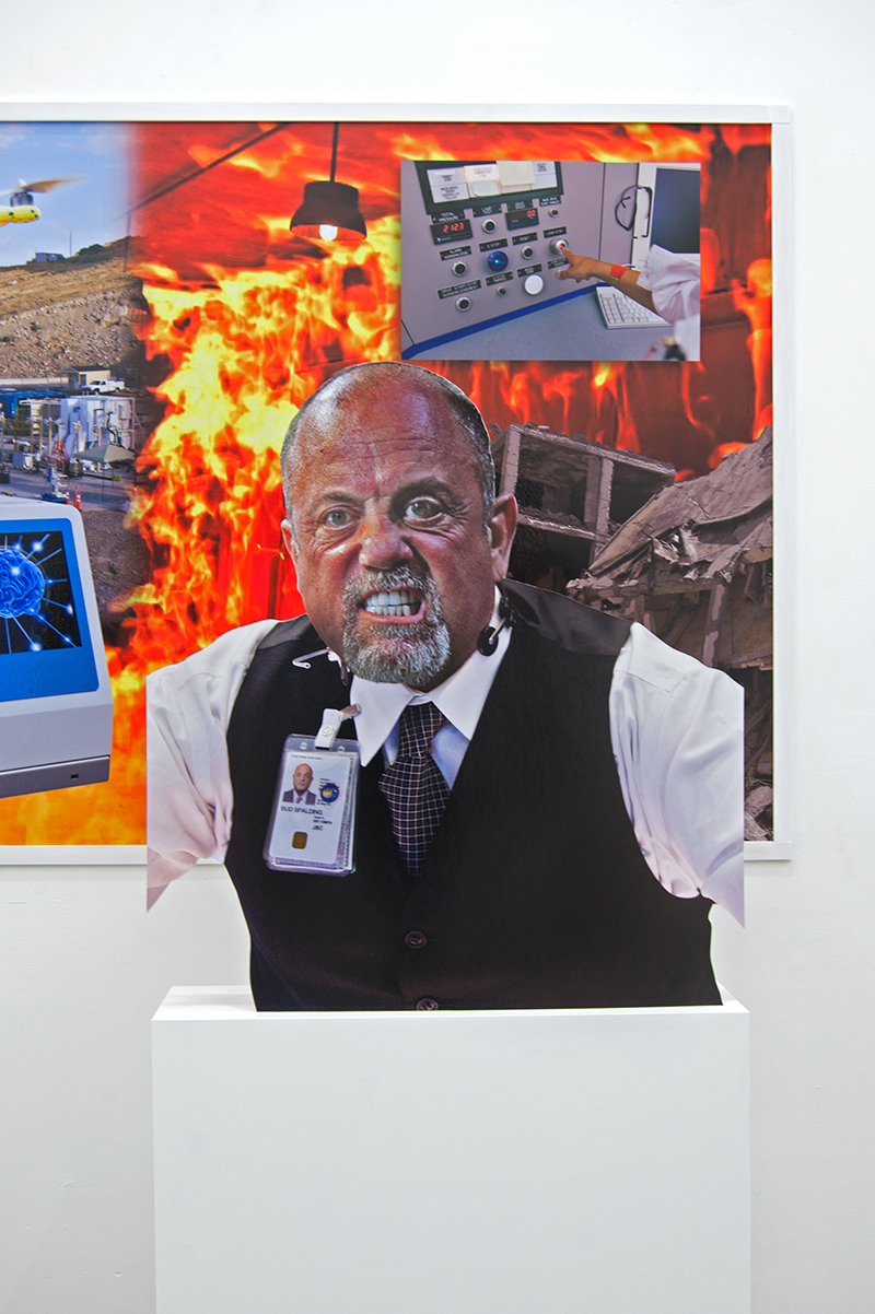 Nick DeMarco, Billy Joel as Bud Spalding, 2014, digital print, board, wood, 64 x 32 x 9 3⁄4 inches
