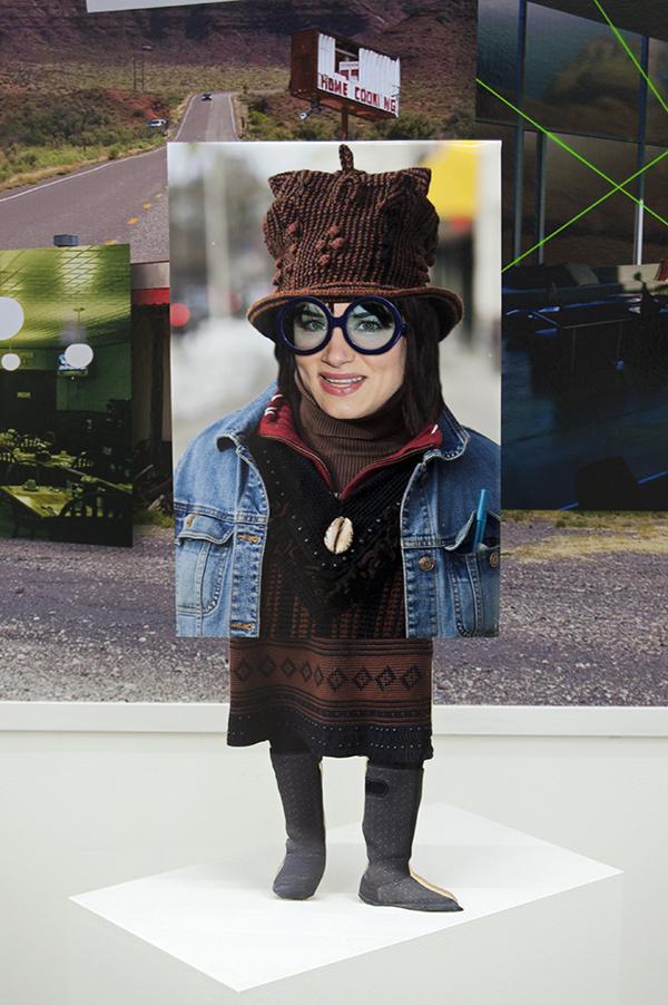 Nick DeMarco, Juliette Lewis as Deb Fleishman, 2014, digital print, board, wood, 62 x 17 x 9 3⁄4 inches