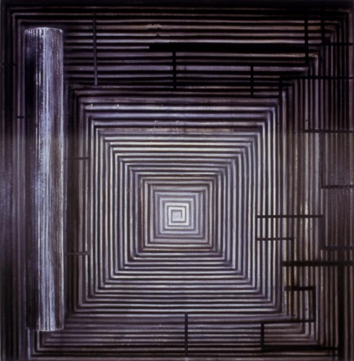 """Ross Bleckner, Untitled, 1981, oil on canvas, 96""""x96"""""""