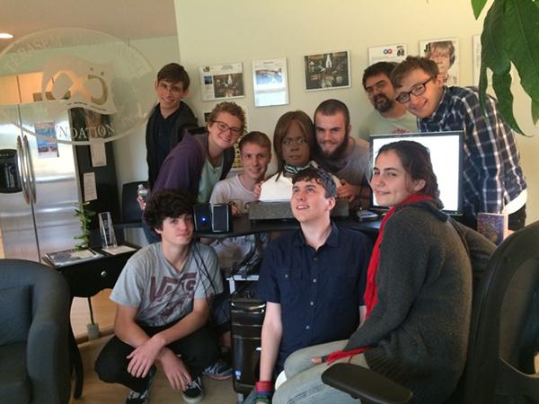 A Vermont class visits Bina48