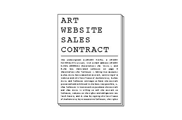 download Rozendaal's Art Website Sales Contract here