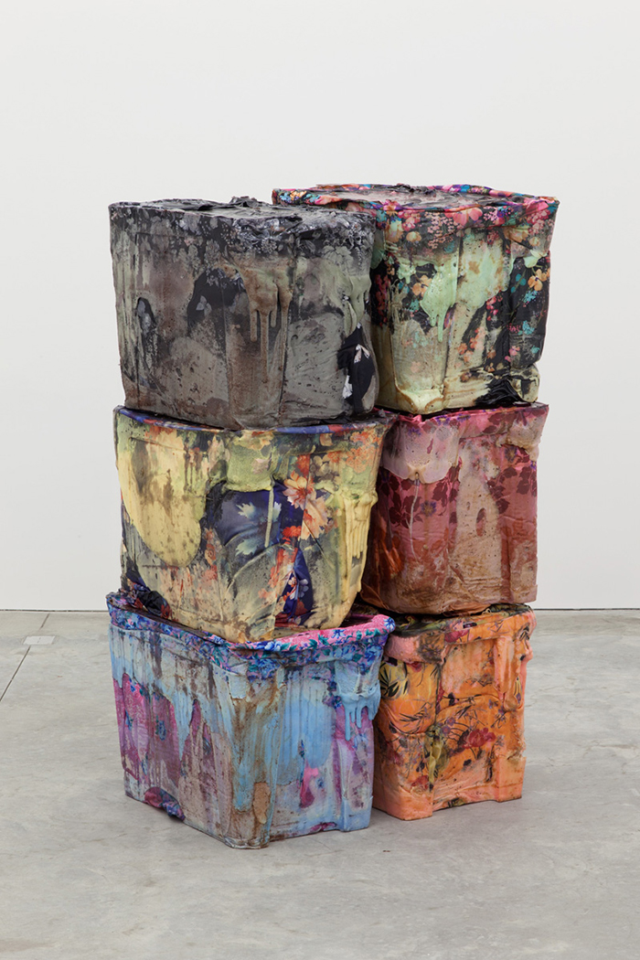 Kevin Beasley, Untitled (stack), 2015. Courtesy Casey Kaplan Gallery, New York