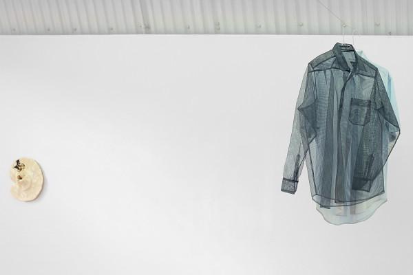 airehgnU ni edecus asoC, 2015. Gauze Mesh Shirt, Laser Etched Denim Shirt