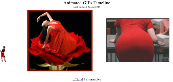 Olia Lialina, Animated Gifs Timeline (still), August 2014