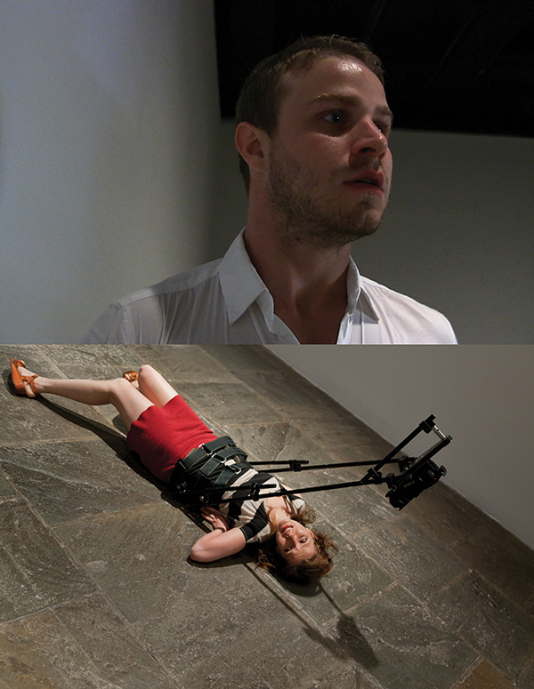 Body Drama, 2011, Performance with body-mounted camera; HD video projection, Whitney Museum of American Art