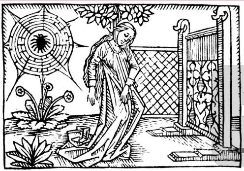 Image from Giovanni Boccaccio's De mulieribus claris, printed 1474