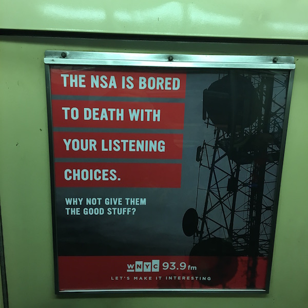 Public radio marketing campaign, embracing the new consensus on NYC's L train.