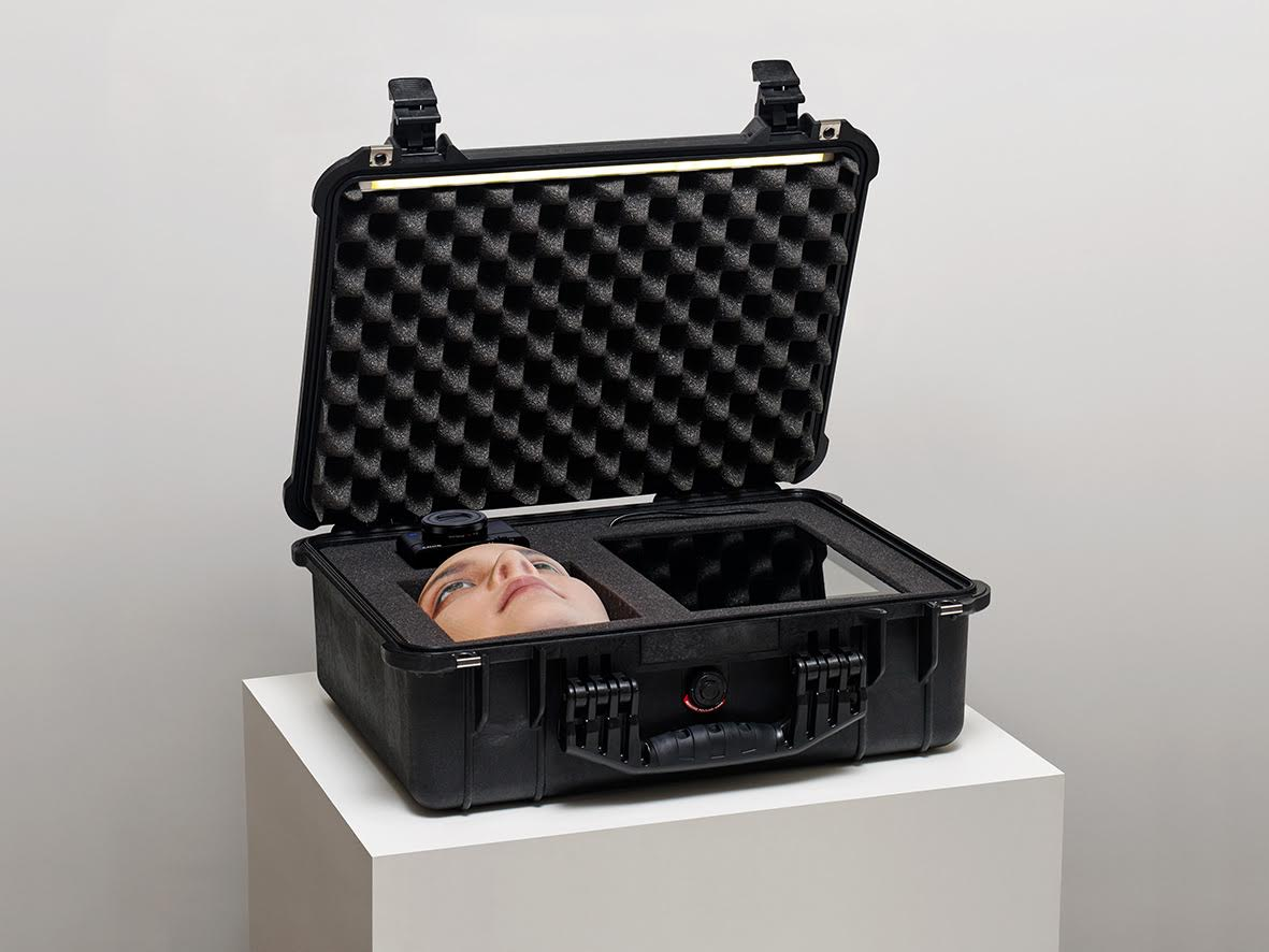 Jakob S. Boeskov Face Jagger, 2015 Flightcase, iPad, camera, 3D print 20 x 16 x 22 Inches